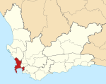 Map of the Western Cape with Cape Town highlighted (2011).svg