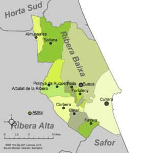 Ribera Baixa - Municipalities of Ribera Baixa