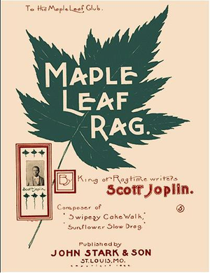 "Maple Leaf Rag - Front cover of the third edition of the ""Maple Leaf Rag"" sheet music"