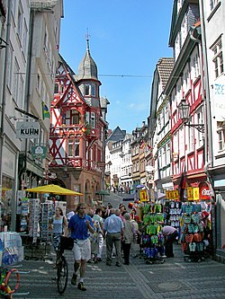 The Wettergasse in the Marburg Upper Town