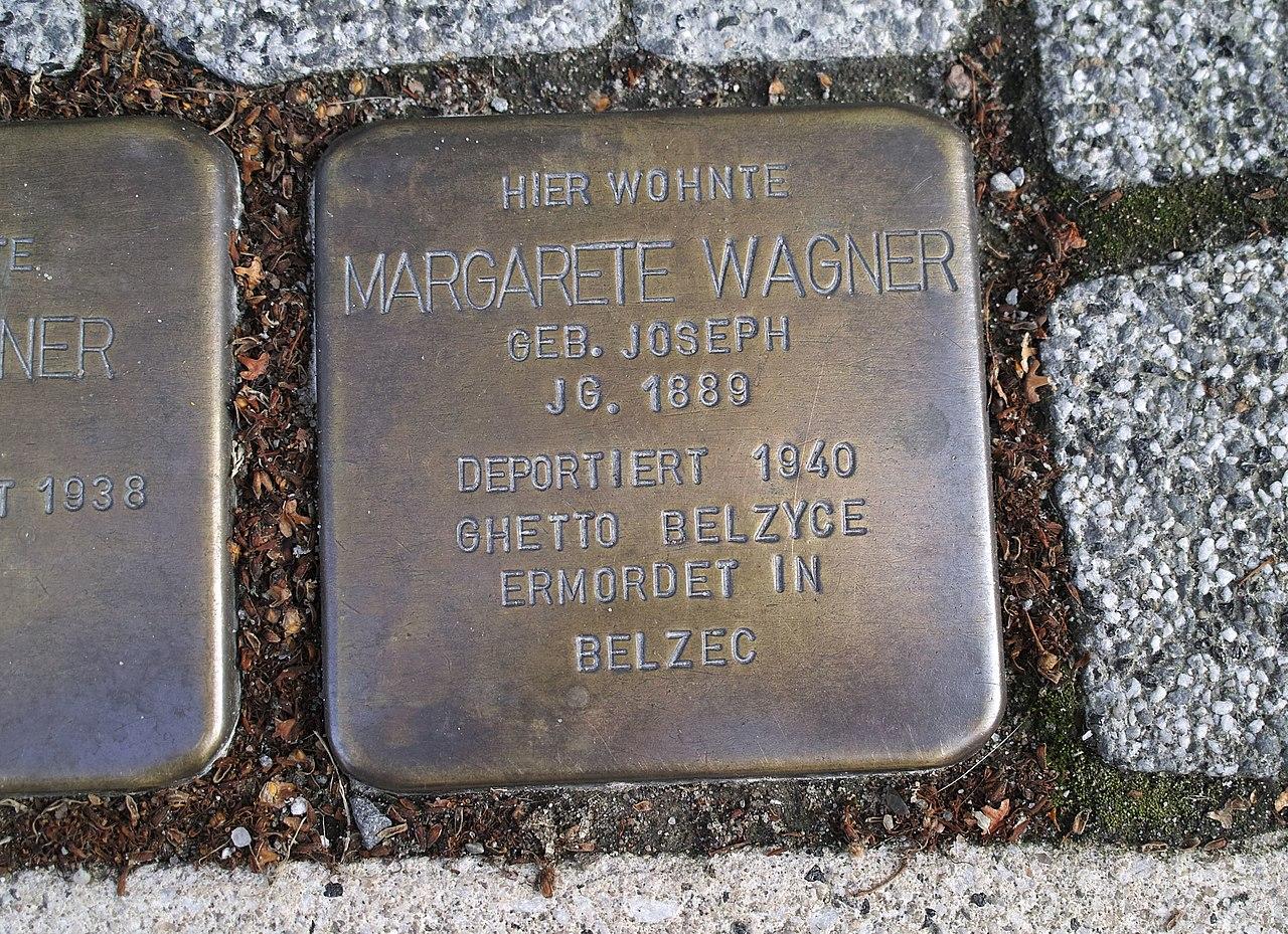Stolperstein von Margarete Wagner, Anklam