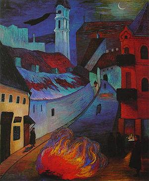 Baal Shem - Marianne von Werefkin, Police Sentinel in Vilnius (1914)
