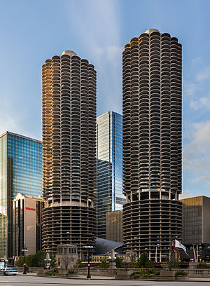 Wilco - The Marina Towers in Chicago, IL are depicted on the cover of Yankee Hotel Foxtrot.