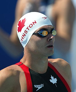 Mark Johnston (swimmer) Canadian swimmer, Olympic athlete, Pan American Games bronze medallist
