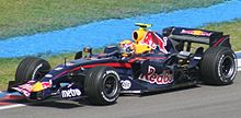 Webber driving for the Red Bull team at the 2007 Malaysian Grand Prix