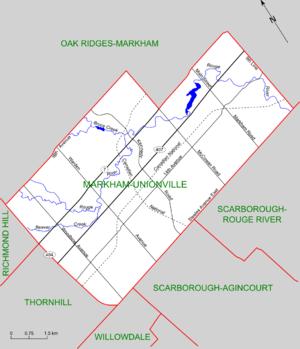 Markham—Unionville - Map of Markham-Unionville