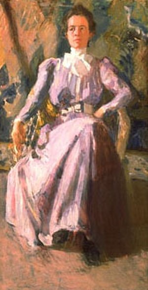 Mary Foote - Mary Foote, Lady in Lavender, oil on canvas, 30 x 16 inches, c.1898-01
