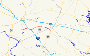 Maryland Route 80 - Image: Maryland Route 80 map