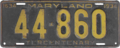 Maryland license plate, 1934.png