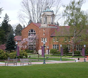 Marylhurst University - The BP John building at the effective center of campus