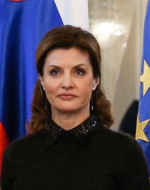 First Lady of Ukraine - Image: Maryna Poroshenko in Slovenia in 2016
