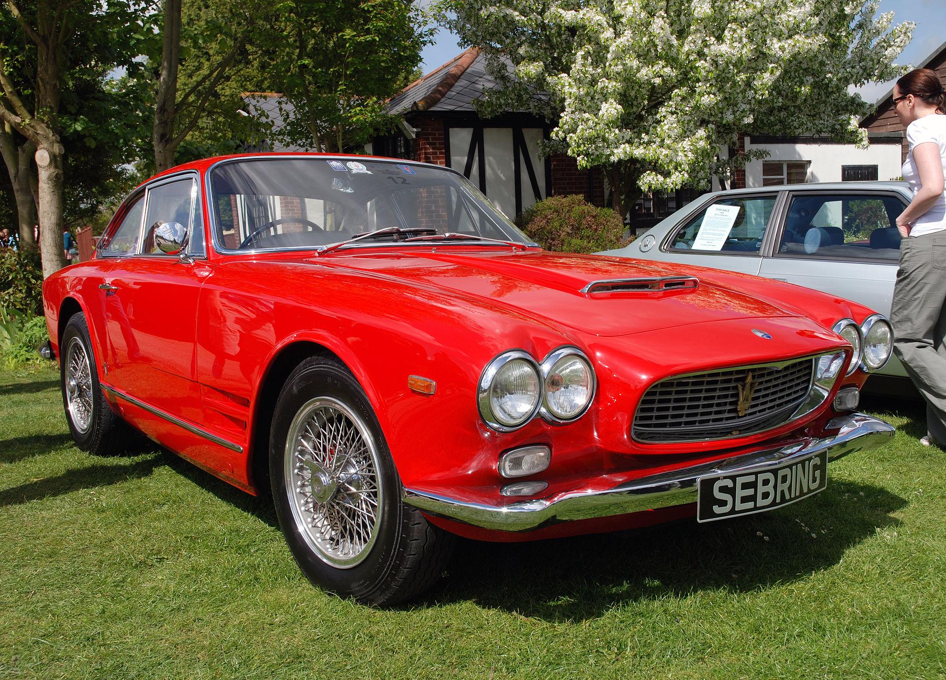 1957 Aston Martin >> Maserati Sebring - Wikipedia