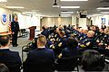 Master Chief Petty Officer of the U.S. Coast Guard Michael Leavitt discusses Sexual Assault Awareness and Prevention Month during a chief's call at Coast Guard Headquarters in Washington, D.C., April 3 130403-G-ZX620-005.jpg