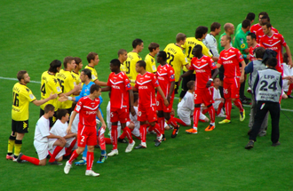 Valenciennes FC - Valenciennes FC against Borussia Dortmund in 2011