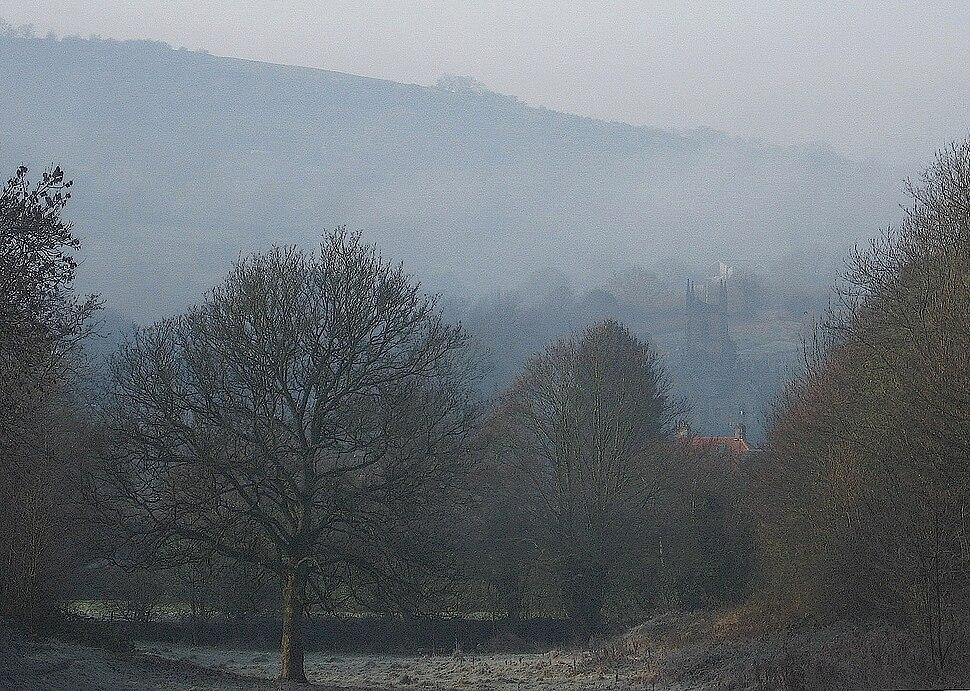 Matlock morning, fog, rotate