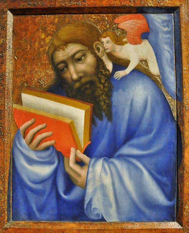 Portrait de Saint Matthieu par le maître Théodoric au Chateau de Karlstejn près de Prague.
