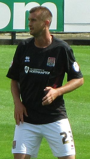 Matt Heath - Heath playing for Northampton Town in 2013