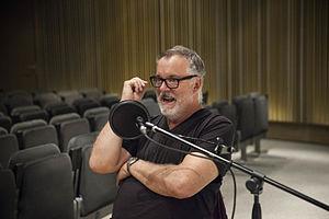 Matt Mullican - Mullican being interviewed by Radio Web MACBA