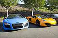 Matte Blue Audi R8 and Orange McLaren MP4-12C (8666058275).jpg