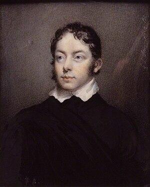 Matthew Lewis (writer) - Portrait by George Lethbridge Saunders (ca. 1800)