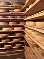 Maturing cheese at Hiša Franko (34596174826).jpg