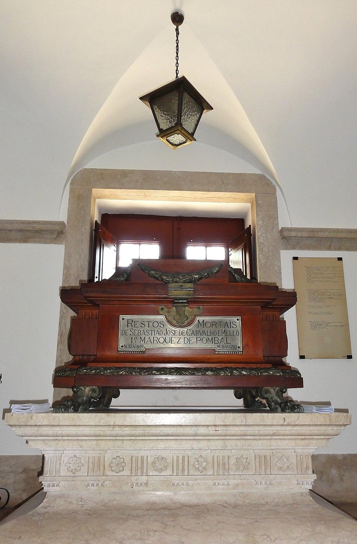 Mausoléu ao Marquês de Pombal, Igreja da Memória, Ajuda-Lisboa