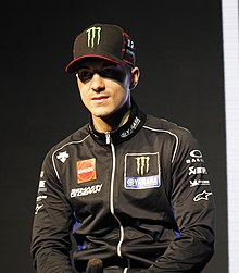 Maverick Vinales at 2019 Yamaha MotoGP team launch.jpg