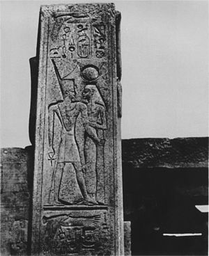 History of the Karnak Temple complex - Stele of Karnak, taken by Maxime Du Camp, around 1850