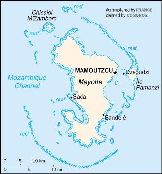 Mayotte-CIA WFB Map