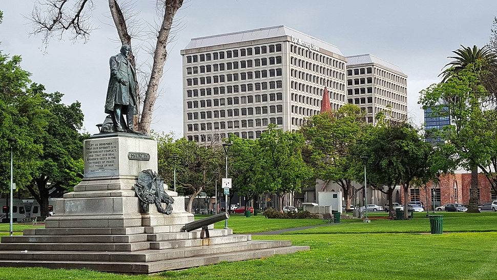 McKinley memorial, St. James Park, San Jose, California