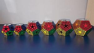 Megaminx - Kilominx, Megaminx, Master Kilominx, Gigaminx, Elite Kilominx, Teraminx