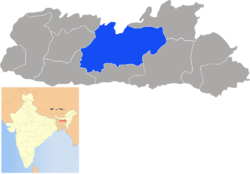 Location of West Khasi Hills district in Meghalaya