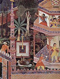 folio from the HamzanamaAncient Indian Art Paintings