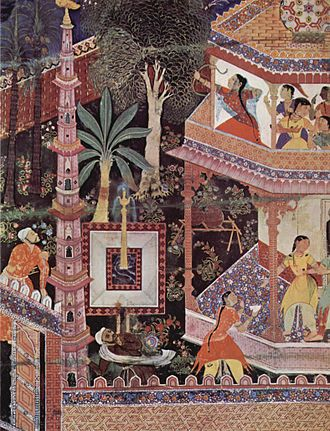 Indian painting - A folio from the Hamzanama