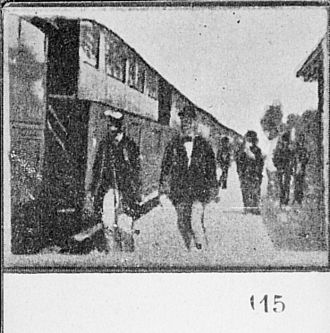 1896 in film - Maybe a surviving print of the film Arrival of a Train at Vincennes Station.