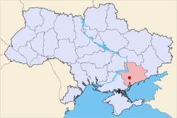 Location of Melitopol