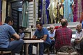 Men captured sitting in a traditional Turkish tea haouse, kıraathane, near Taksim square, Istanbul, Turkey, Eastern Europe and Western Asia. 20 July,2016.jpg