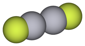 Mercury(I) fluoride - Image: Mercury(I) fluoride 3D vd W
