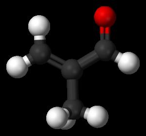Methacrolein - Image: Methacrolein 3D balls A