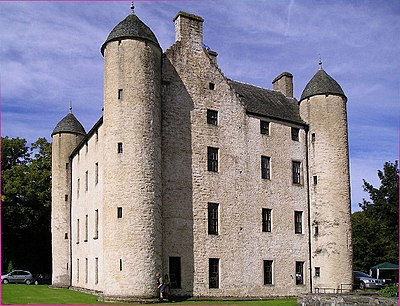 Methven Castle. The original castle was the seat of Walter Stewart, Earl of Atholl. Methven Castle.jpg