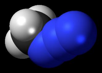 Methyl azide - Image: Methyl azide 3D spacefill