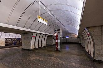 Savyolovskaya (Serpukhovsko–Timiryazevskaya line) - Image: Metro MSK Line 9 Savyolovskaya (img 2)