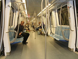 Algiers Metro - Inside the train