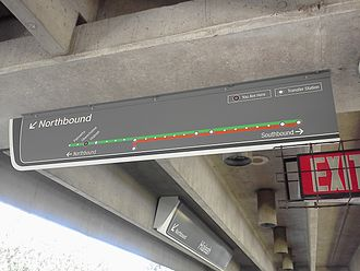 Hialeah station (Metrorail) - Northbound platform map at the station