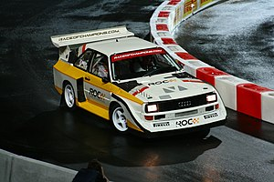 2009 Race of Champions - Michèle Mouton driving an Audi Quattro S1 during the South Europe finals