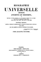 Michaud - Biographie universelle ancienne et moderne - 1843 - Tome 43.djvu