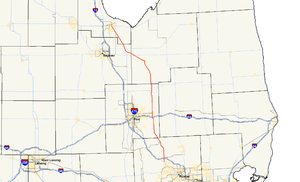 M-15 (Michigan highway) - Image: Michigan 15 map