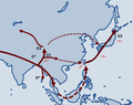 Migration of the Y chromosome haplogroup D in East Asia.png