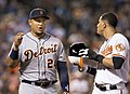 Miguel Cabrera and Manny Machado in 2014 (14174935704).jpg