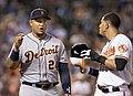 Miguel Cabrera and Manny Machado in 2014 (14174935704).jpg